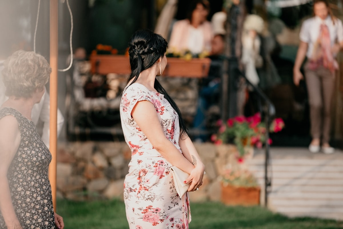 gorgeous, pretty girl, dress, fashion, handbag, woman, people, girl, portrait, pretty