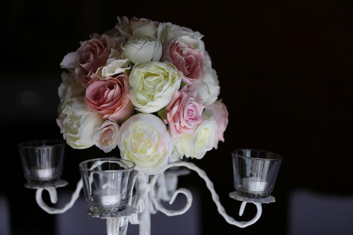 des roses, Rose, décoration, arrangement, romance, fleur, bouquet, romantique, élégant, célébration