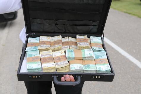 bancnote, numerar, bani, bani de hârtie, bagaje, afaceri, hârtie, moneda, portabile, din piele