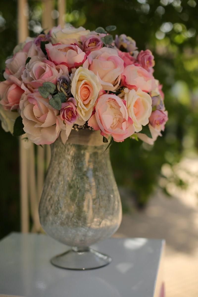 Rosen, Kristall, Rosa, Glas, Pastell, Still-Leben, Blumen, Container, Vase, Glas