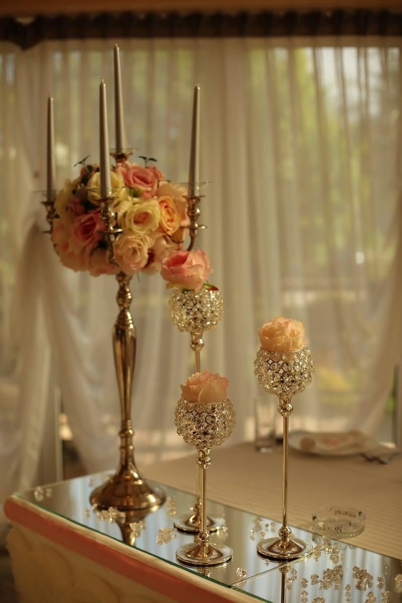 vase, nature morte, crystal, décoration d'intérieur, bougie, chandelier, verre, Design d'intérieur, luxe, à l'intérieur