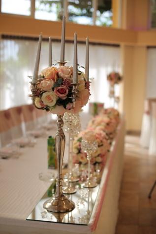 bougies, bougie, chandelier, mariage, réception, à l'intérieur, luxe, Design d'intérieur, à manger, élégant