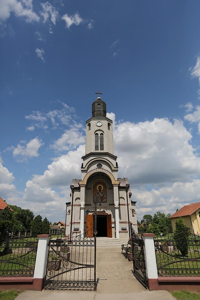 Serbie, Église, steeple, orthodoxe, tour, religion, Création de, architecture, vieux, Ville