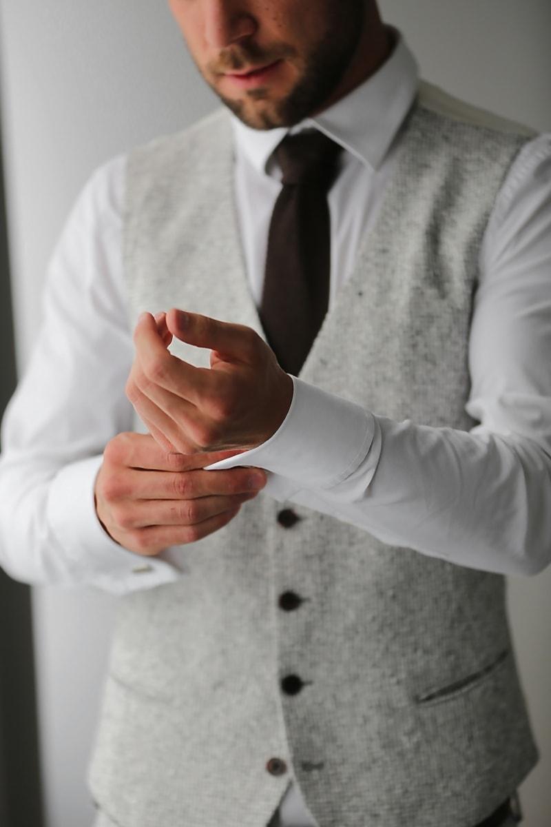 brown, tie, grey, suit, tuxedo suit, businessperson, businessman, manager, man, coat