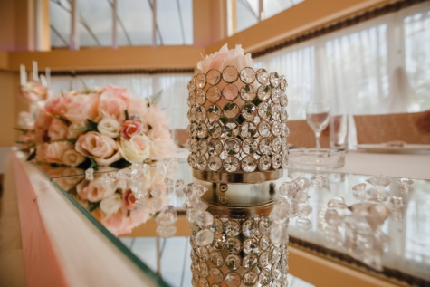 recepción, boda, lujo, flor, adentro, decoración, florero de, diseño, diseño de interiores, tradicional