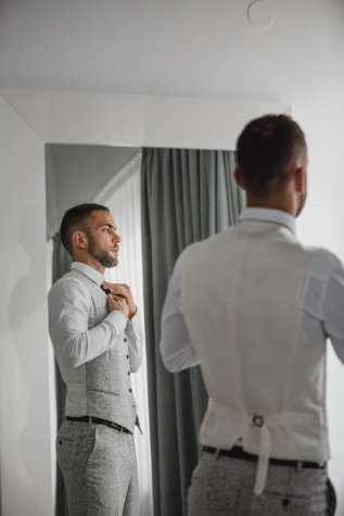 handsome, photo model, reflection, outfit, tuxedo suit, mirror, man, indoors, business, office