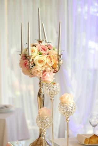 svícen, barokní, elegantní, svíčky, luxusní, dekorace, kytice, design interiéru, svatba, svíčka
