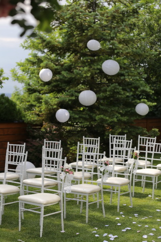 wedding venue, chairs, elegant, white, grass, garden, chair, tree, seat, park