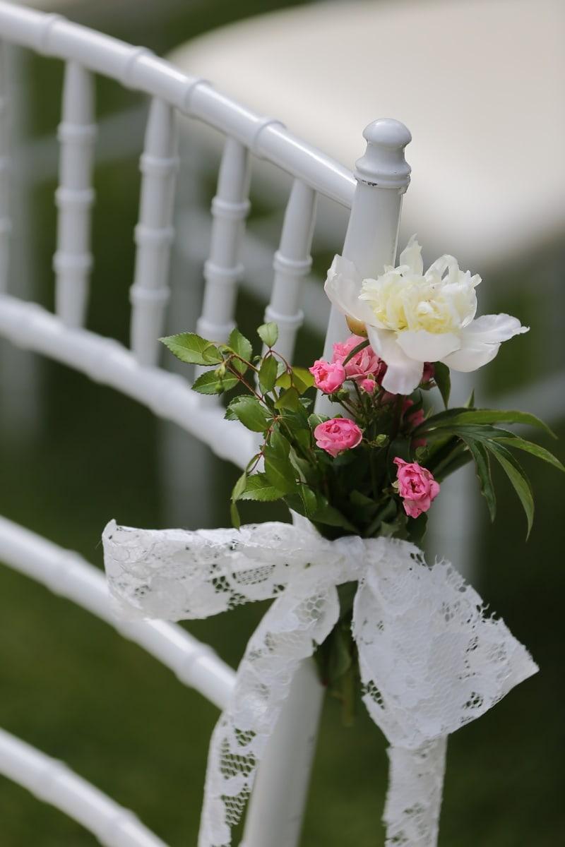 婚礼场地, 椅子, 白色, 家具, 束, 花, 婚礼, 花, 爱, 花园