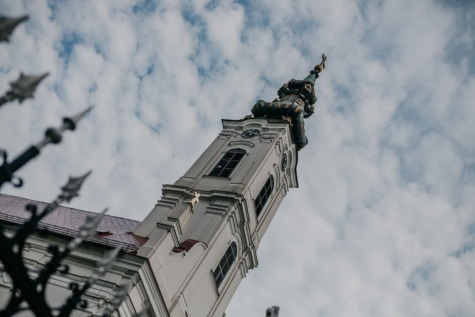 orthodox church, church tower, Backa Palanka, architecture, old, cloud, city, art, street, outdoors