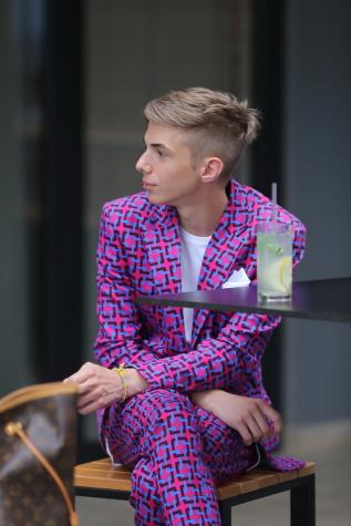 Smokinganzug, Mode, Glanz, Outfit, bunte, Gentleman, Mann, zeitgenössisch, beiläufig, auf der Suche