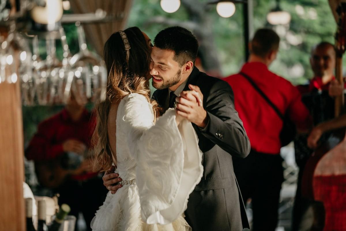 romantic, dance, love, music, man, pretty girl, wedding, people, groom, couple