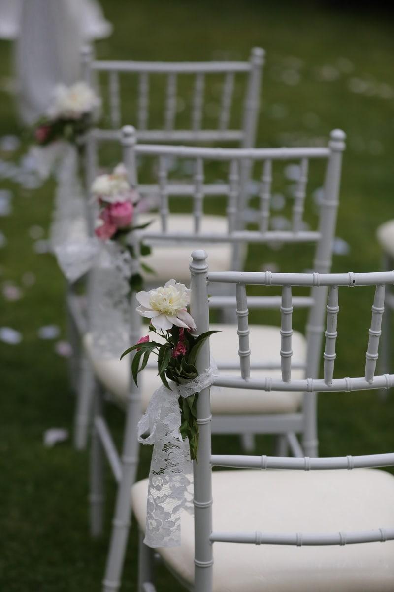 salle de mariage, chaises, patio, arrière-cour, décoration, meubles, mariage, fleur, romance, Rose