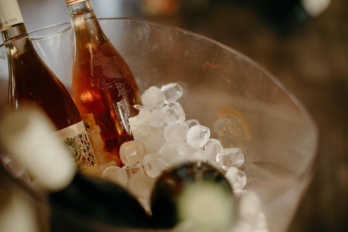 червено вино, ледени кристали, лед, бутилки, шампанско, стъкло, вино, напитки, бутилка, алкохол