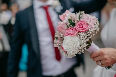 la mariée, bouquet de mariage, mariage, des roses, cérémonie, décoration, jeune marié, mariage, arrangement, bouquet