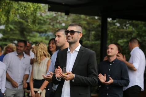 applause, businessman, tuxedo suit, drink, people, crowd, office, team, corporate, groom