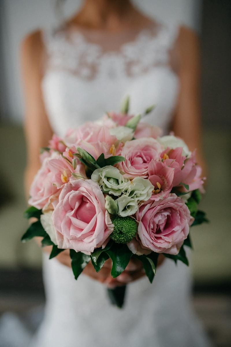 Anordnung, Liebe, Romantik, stieg, Blumenstrauß, Braut, Blume, Hochzeit, elegant, Engagement