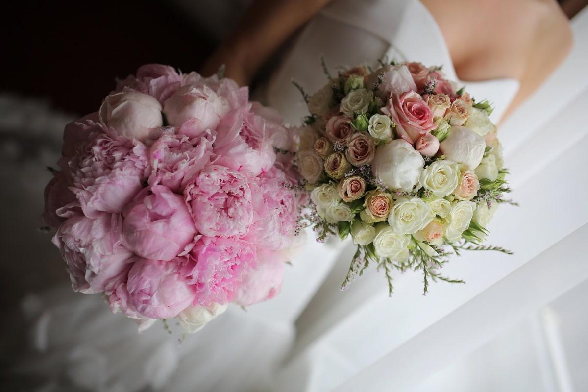 blomma, bröllop, bukett, engagemang, bruden, Kärlek, romantik, ökade, äktenskap, naturen