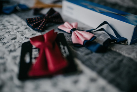 bowtie, pinkish, fancy, outfit, fashion, style, blur, indoors, still life, shopping
