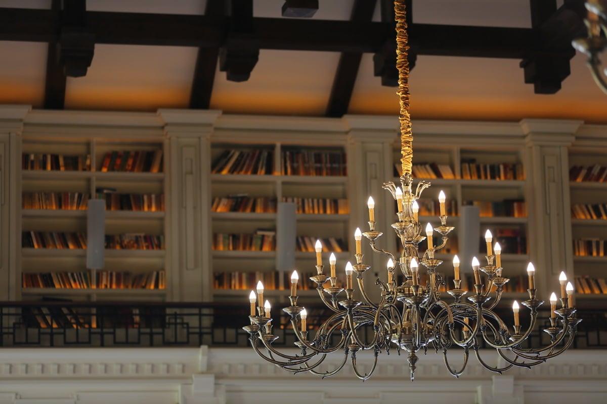 фантазия, елегантна, полилей, стил, Барок, вътрешна украса, Библиотека, архитектура, светлина, закрито