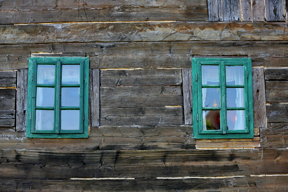 wooden, facade, barn, old, windows, abandoned, wall, house, wood, window