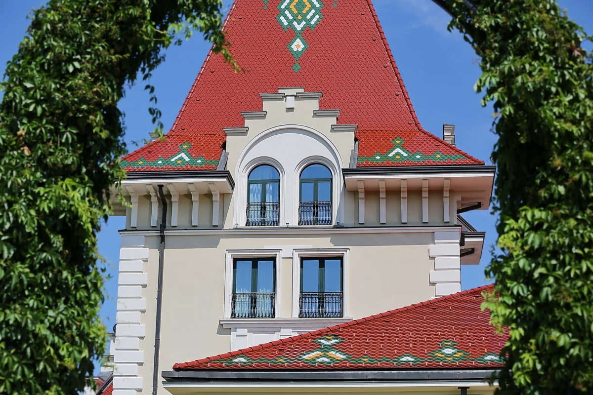 fancy, style, house, castle, facade, building, architecture, roof, family, old