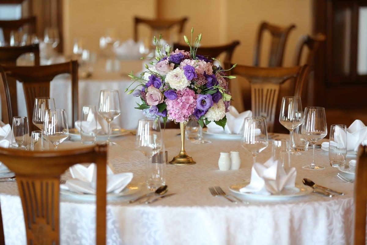 salle à manger, fantaisie, baroque, style, à l'intérieur, à manger, vaisselle, table, Design d'intérieur, meubles