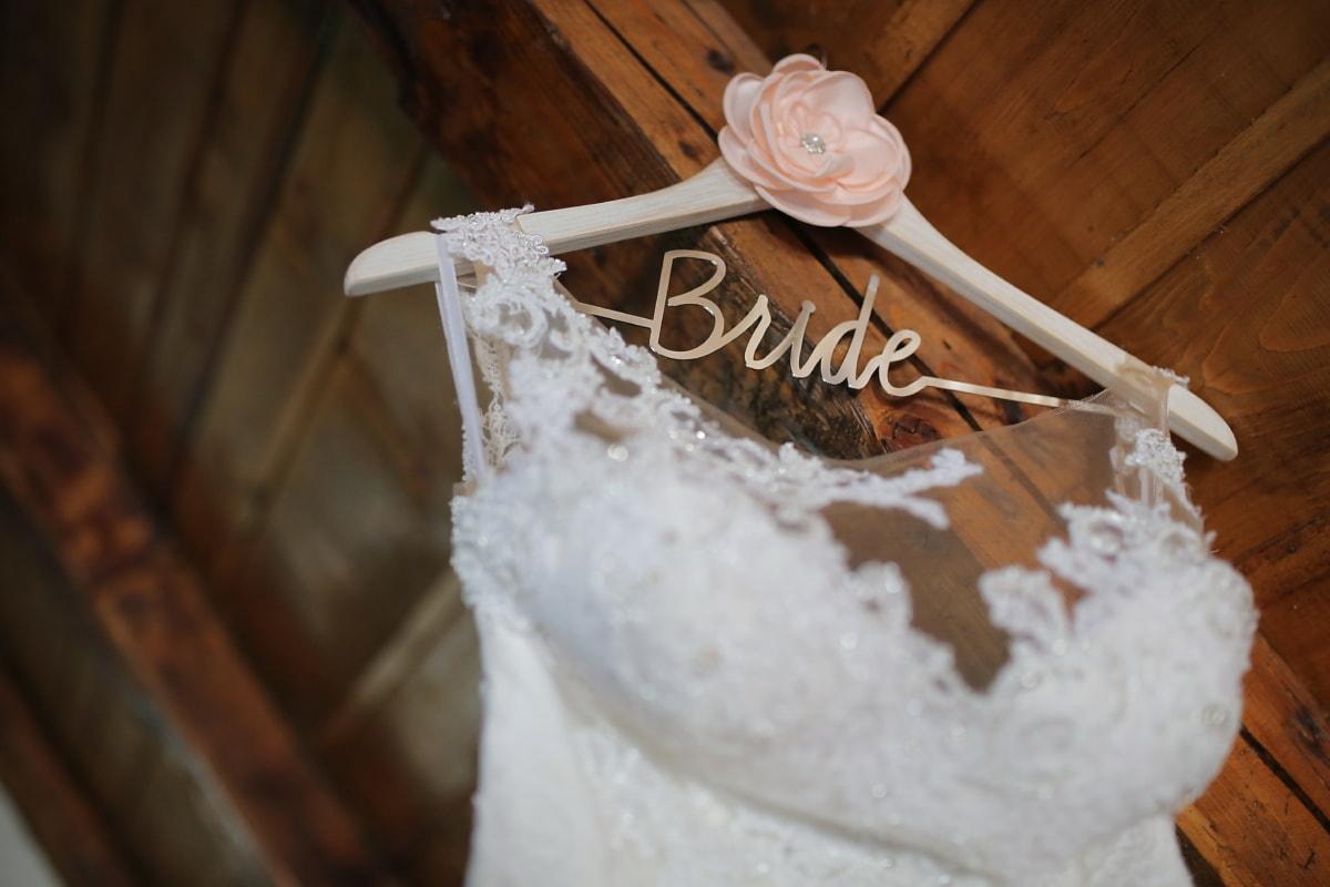 robe, robe de mariée, bois, traditionnel, maison, Retro, luxe, mariage, la mariée, rustique