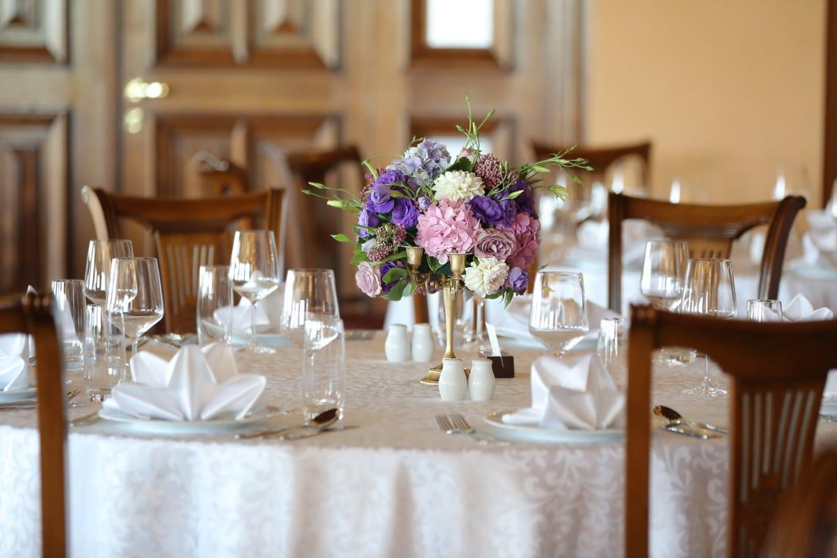 Tabelle, Vase, Kantine, Lust auf, Restaurant, Interieur-design, Möbel, Geschirr, drinnen, Glas