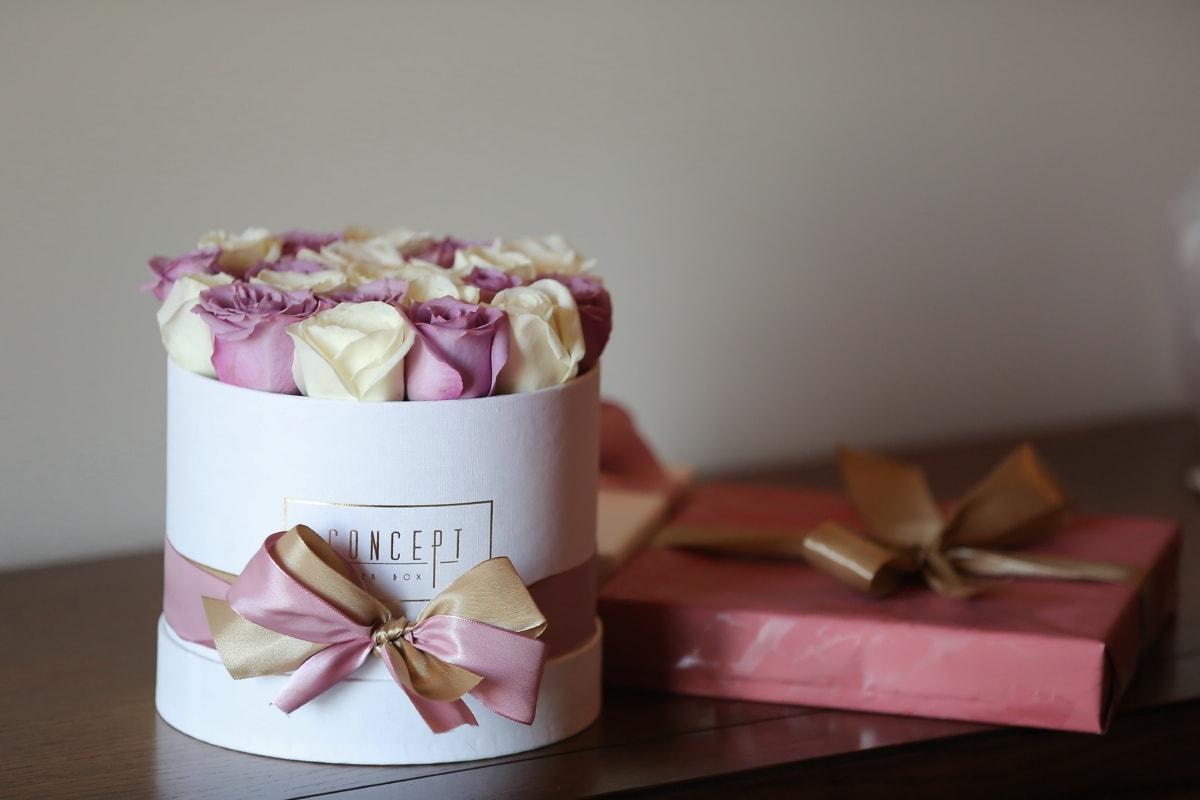 cadeaux, fantaisie, La Saint-Valentin, des roses, amour, fleur, nature morte, anniversaire, boîte de, à l'intérieur