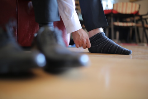 sock, foot, skin, man, clothes, indoors, blur, leisure, portrait, room