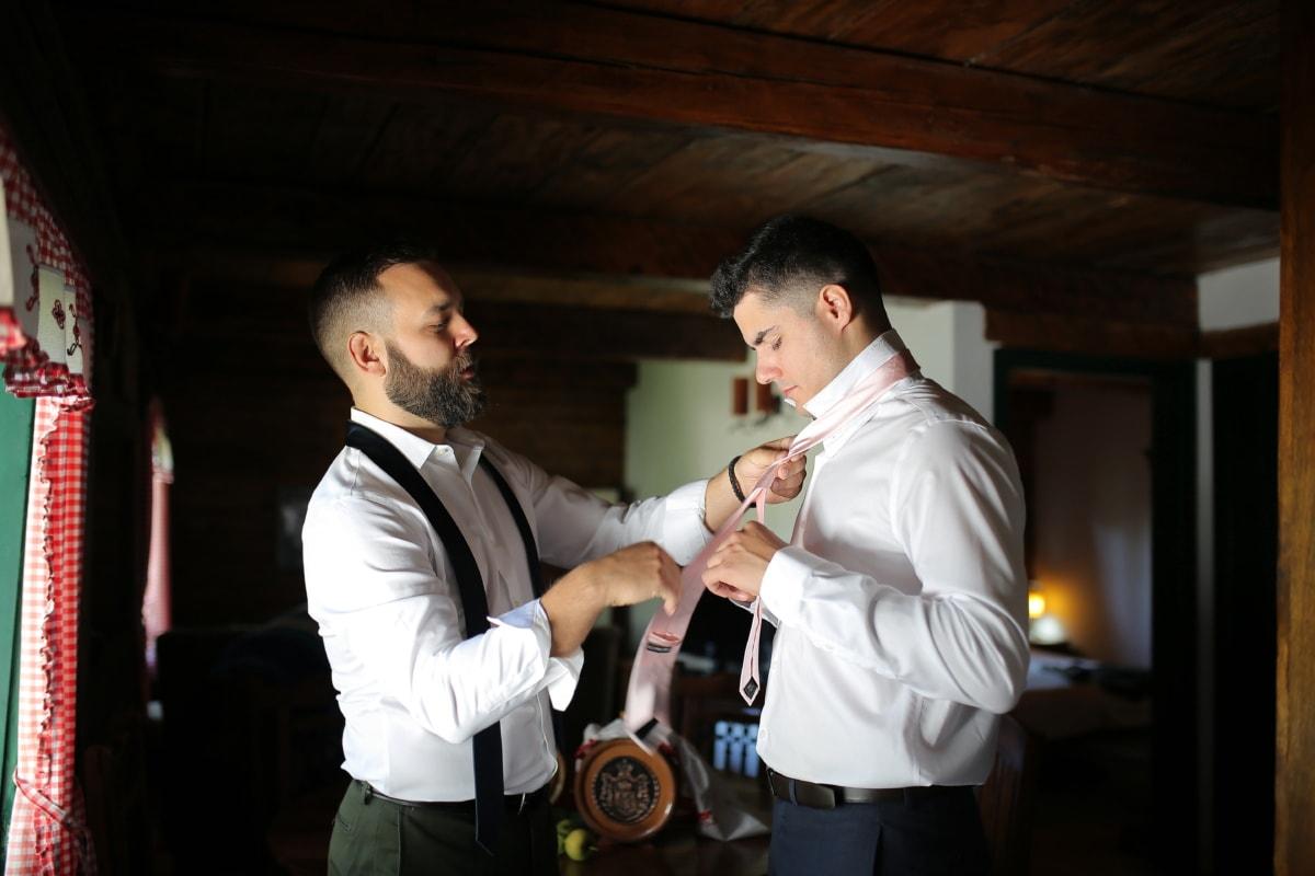 groom, tie, godfather, tuxedo suit, man, employee, people, portrait, indoors, recreation