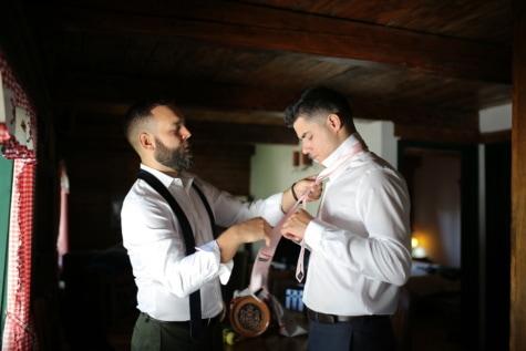 sposo, cravatta, padrino, abito smoking, uomo, dipendente, persone, verticale, in casa, ricreazione