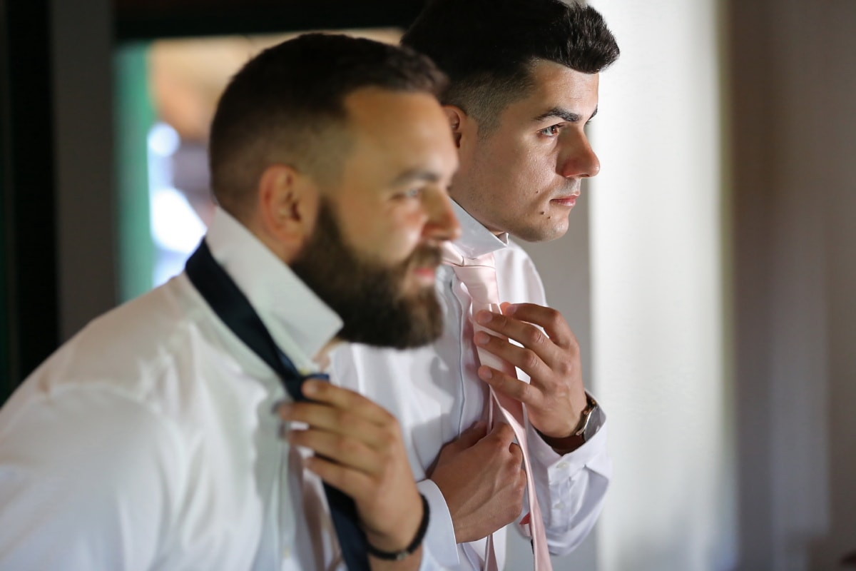 Krawatte, gut aussehend, Männer, Smokinganzug, professionelle, Mann, medizinische, drinnen, Krankenhaus, Menschen