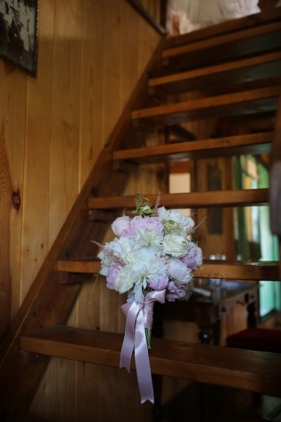 staircase, wooden, wedding bouquet, indoors, bouquet, flowers, flower, wedding, interior design, furniture