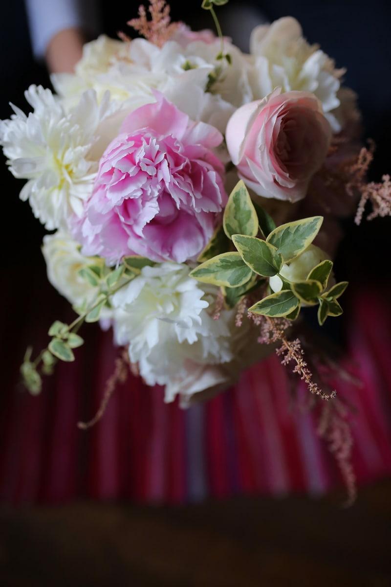 flowers, rose, flower, arrangement, pink, wedding, decoration, bouquet, romance, leaf