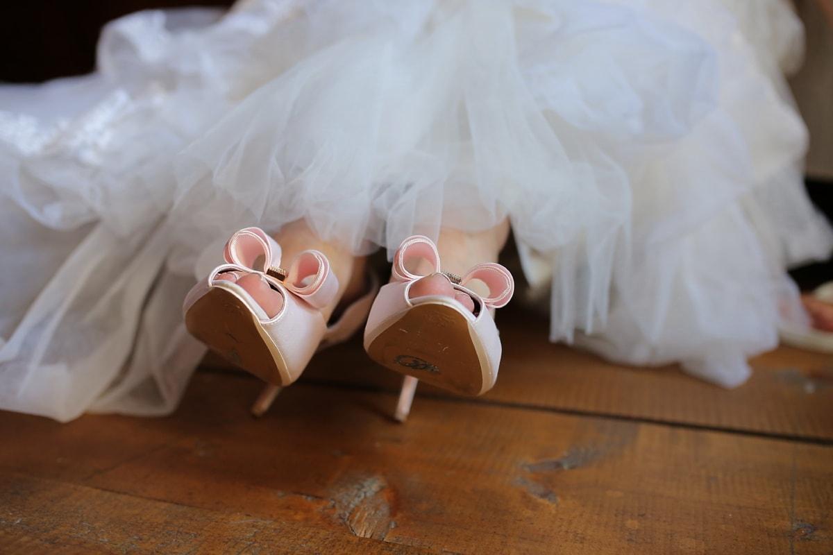 chaussures, fantaisie, sandale, mariage, robe de mariée, la mariée, mode, Ballet, chaussures, femme