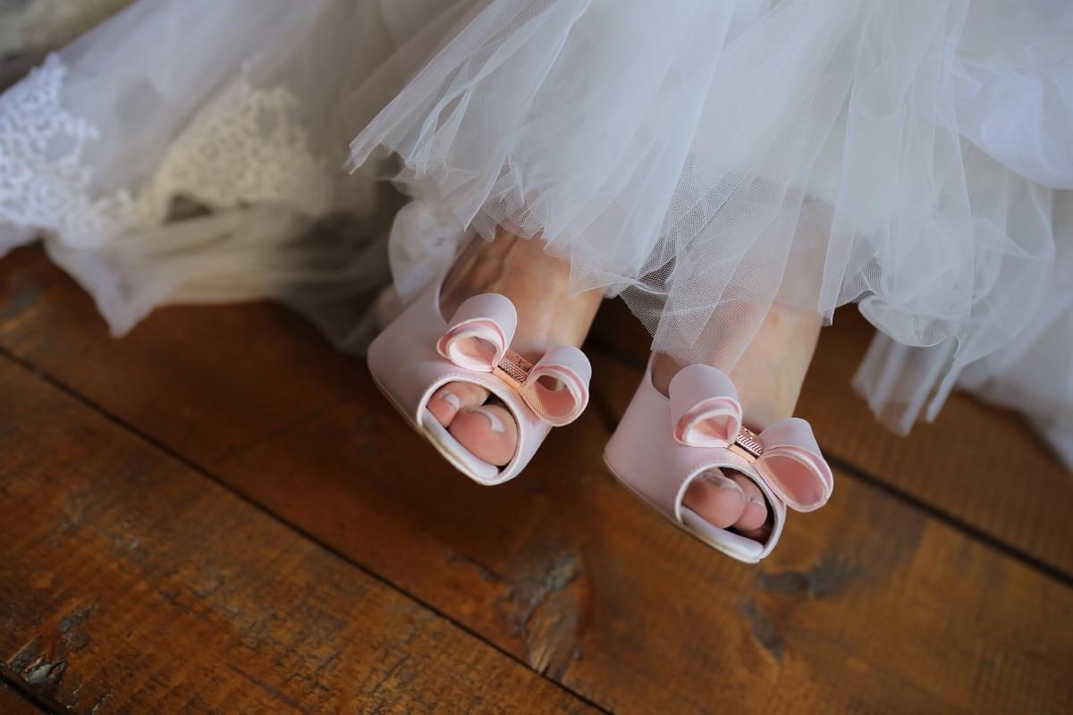 robe de mariée, chaussures, sandale, mariage, bois franc, plancher, la mariée, Ballet, femme, jeune fille