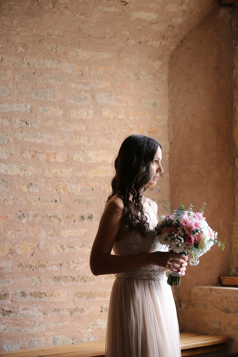 sadness, bride, alone, castle, attractive, woman, groom, fashion, wedding, girl