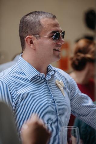 bello, uomo, occhiali da sole, verticale, vista laterale, tipo, persona, persone, in casa, moda
