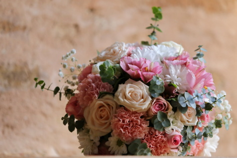 Blumenstrauß, Hochzeitsstrauß, Rosen, Geschenk, Pastell, Romantik, Natur, Dekoration, stieg, Anordnung