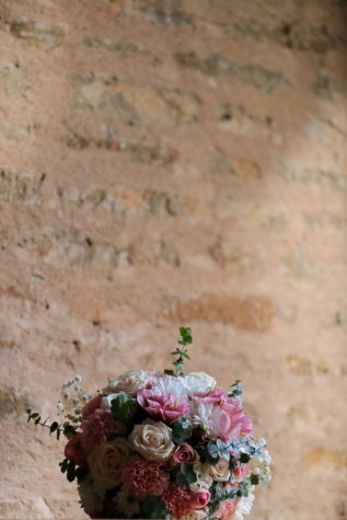 bricks, wall, bouquet, flowers, vintage, antique, texture, ancient, nature, retro