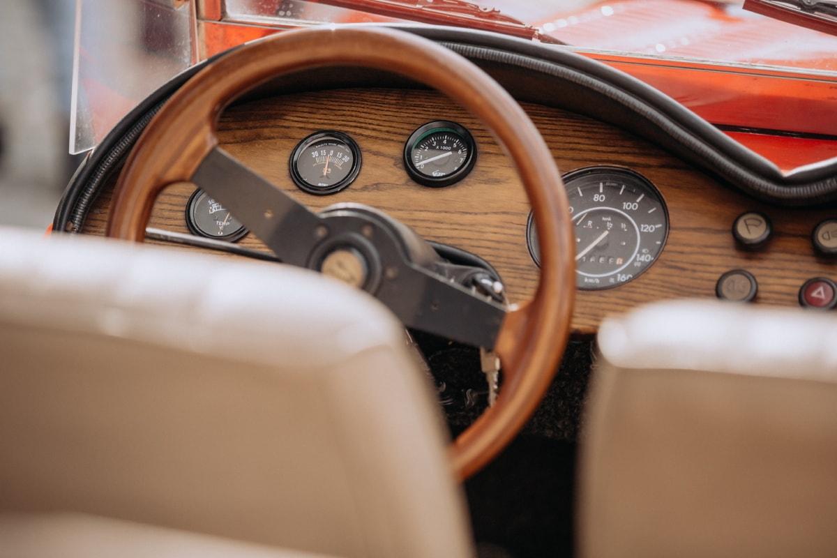 car seat, dashboard, sedan, oldtimer, gauge, car, control, transportation, mechanism, vehicle