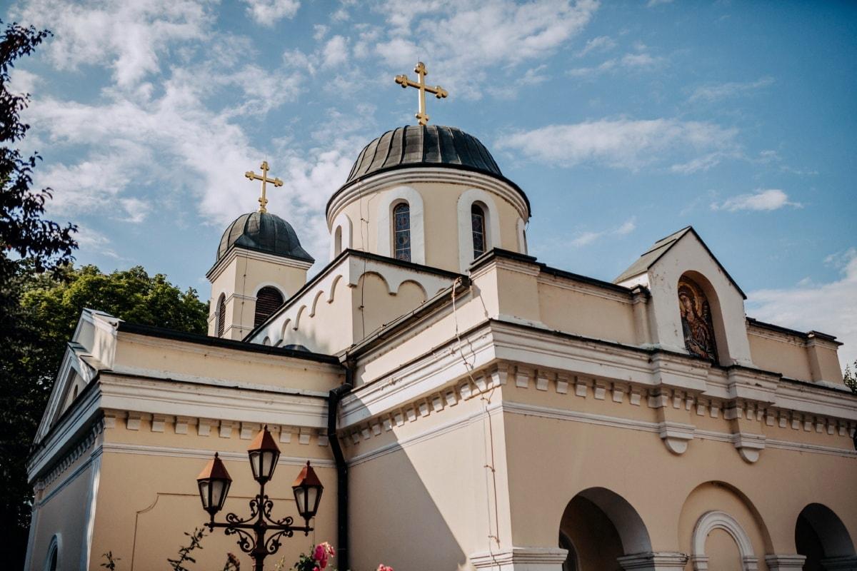 orthodoxe, mittelalterliche, Fassade, Kloster, Kathedrale, Architektur, Kirche, Erstellen von, Haus, Residenz