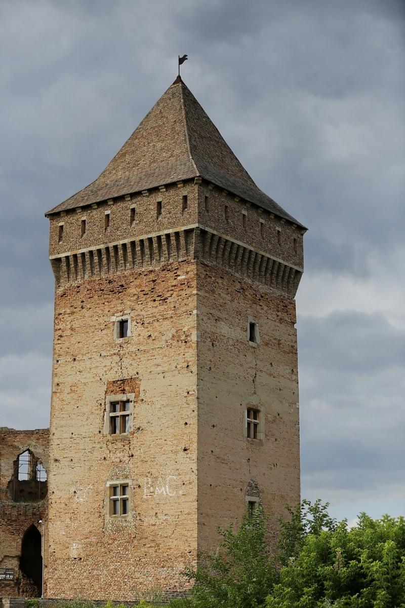Château, tour, style architectural, médiévale, vieux, fortification, Palais, architecture, gothique, forteresse