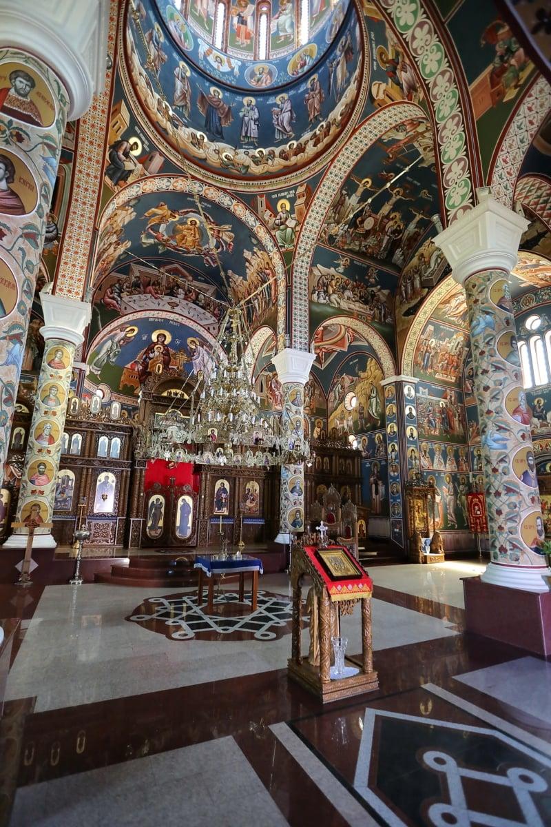 Serbie, orthodoxe, Église, mosaïque, icône, autel, architecture, Cathédrale, religion, structure