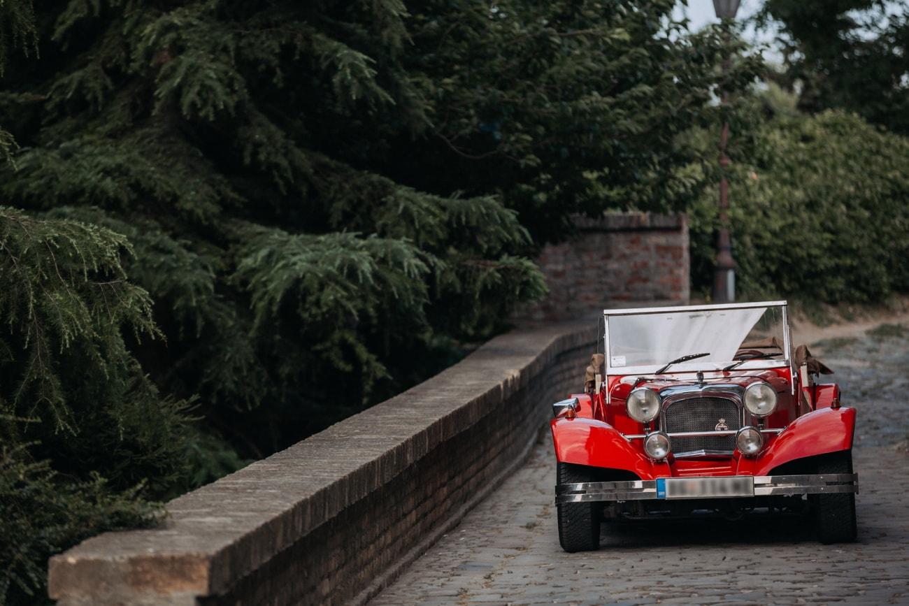 Tasse, rot, Oldtimer, Automotive, Nostalgie, Fahrzeug, Straße, Menschen, Auto, Holz