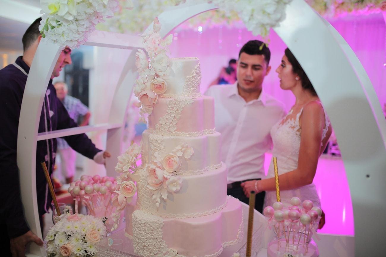 ακριβά, Fancy, γαμήλια τούρτα, κομψό, γαμπρός, νύφη, τελετή, ρομαντικό, Γάμος, Γάμος