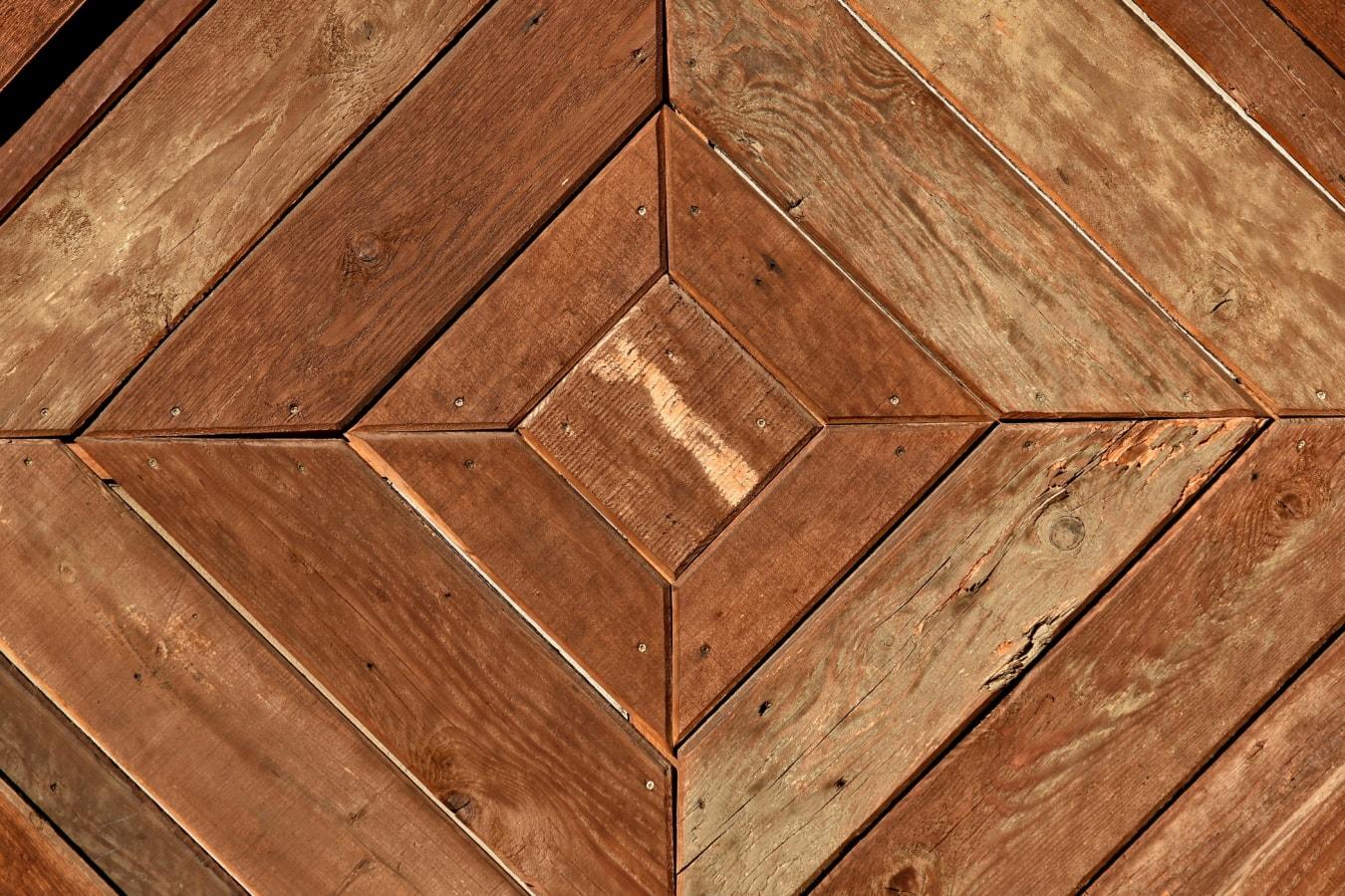 Design, Textur, Rechteck, aus Holz, Holz, Braun, Hartholz, Planken, Material, Retro