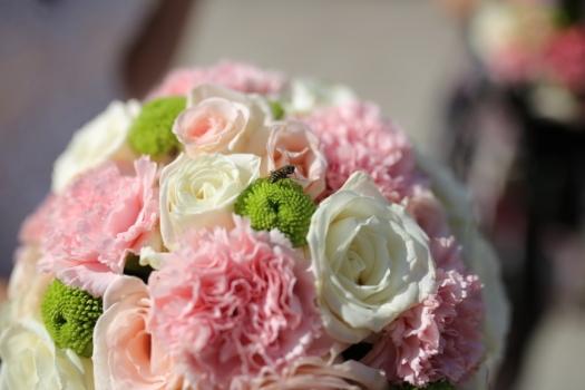 insecte, guêpe, en détail, bouquet de mariage, bouquet, mariage, décoration, élégant, arrangement, romance